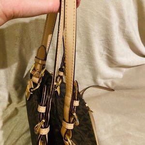 MICHAEL Michael Kors Bags - Michael Kors brown and tan monogram tote/shoulder